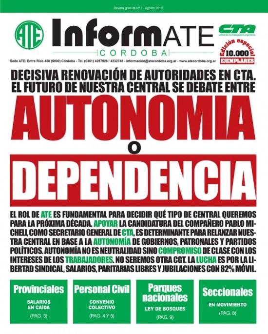 tapa Informate septiembre 2010