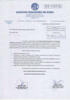 Comunicación al Ministerio de Trabaja del paro nacional